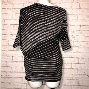 BCBG Max Azria Black & white striped  tunic dress